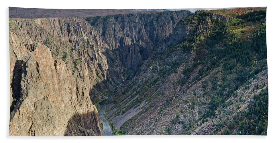Black Canyon Of The Gunnison Beach Towel featuring the photograph Black Canyon Afternoon by Greg Nyquist