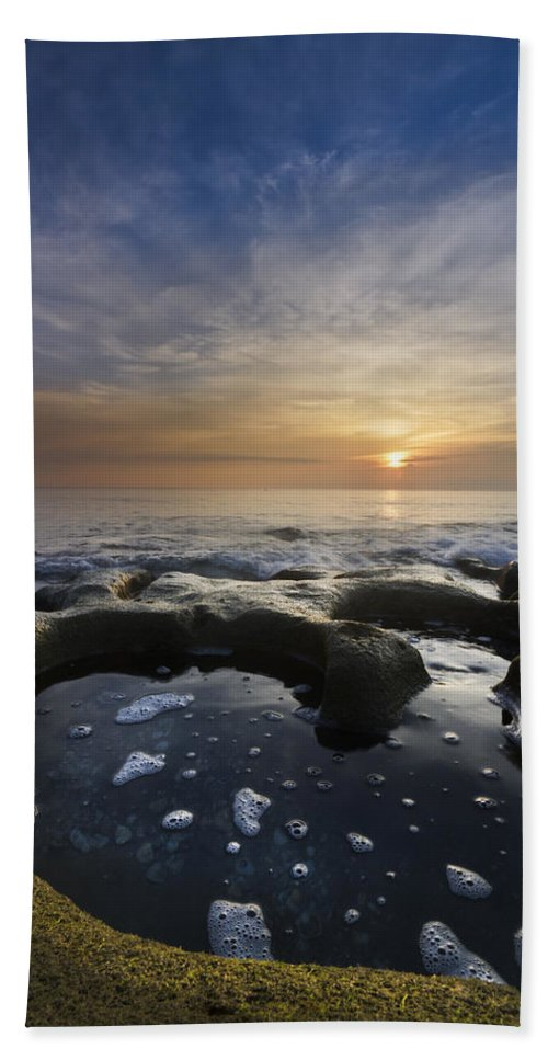 Clouds Beach Towel featuring the photograph Black Sea by Debra and Dave Vanderlaan