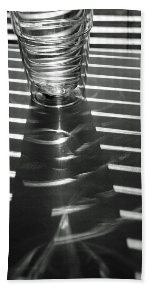 Blinds Beach Towel featuring the photograph Blind Shadows by Lauri Novak