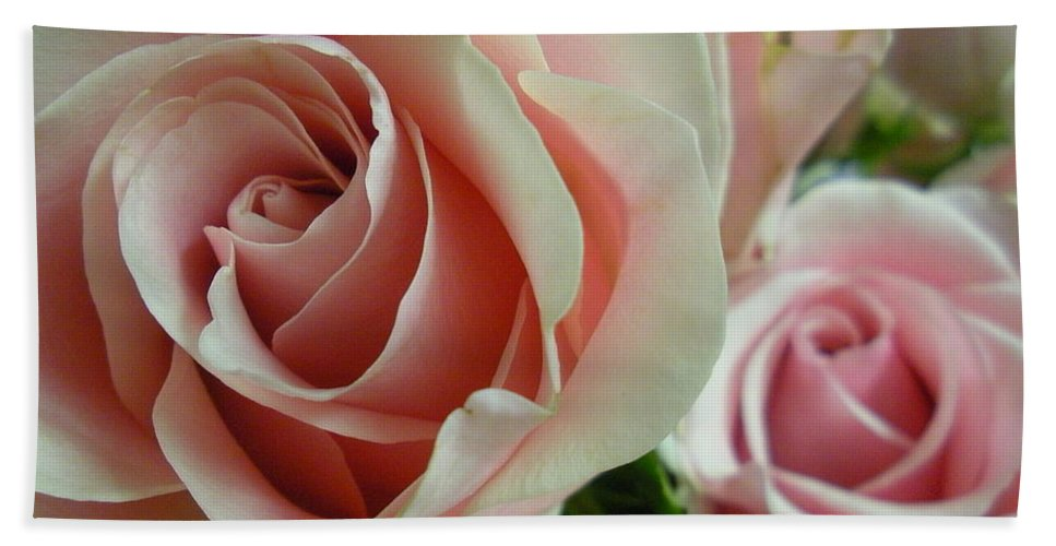 Rose Beach Towel featuring the photograph Bliss Closeup by Maria Bonnier-Perez