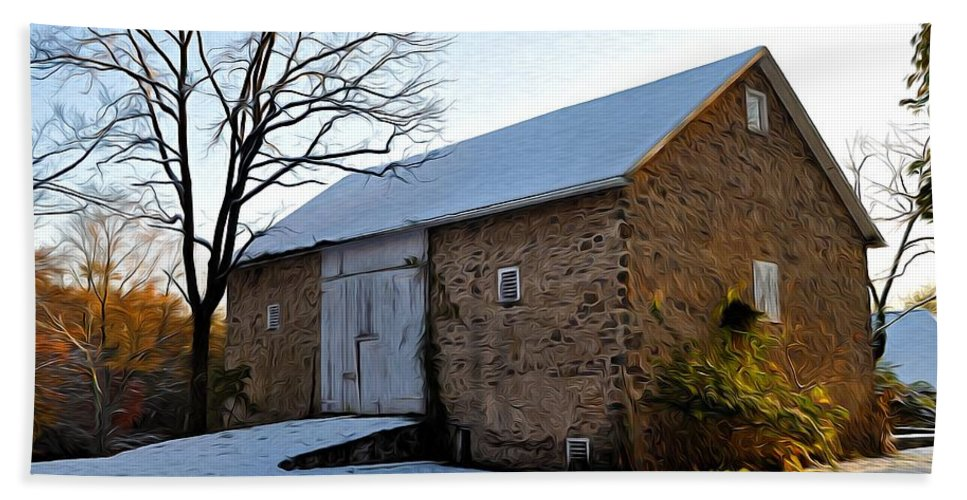 Blue Bell Barn Beach Towel featuring the photograph Blue Bell Barn by Bill Cannon