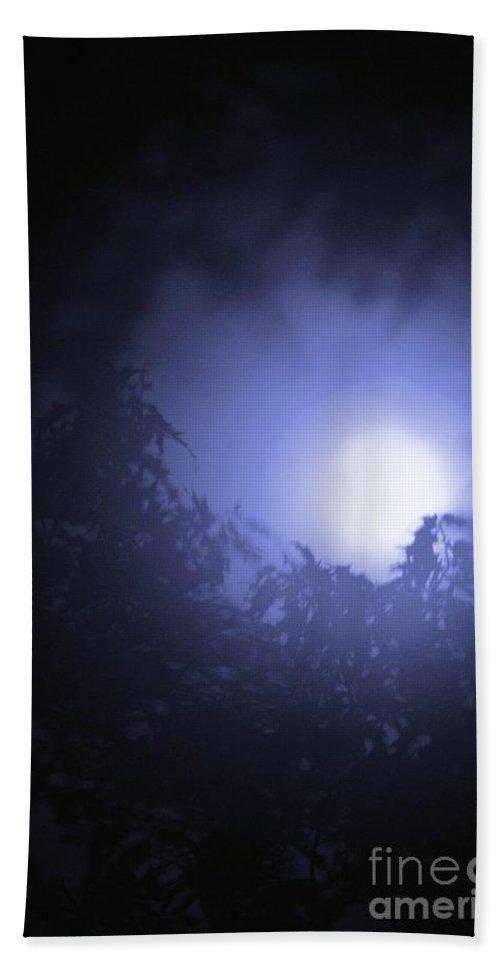 Blue Beach Towel featuring the photograph Blue Moon by Maria Urso