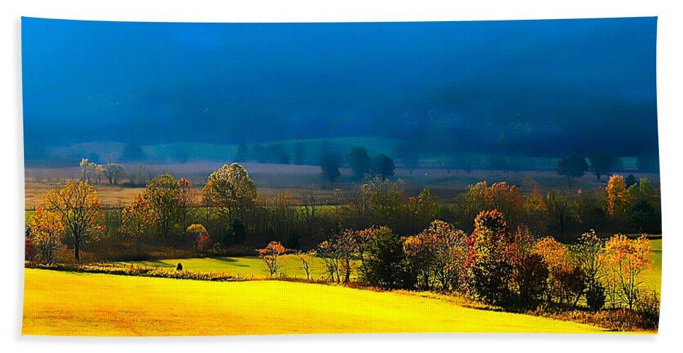 Blue Morning By Branham Beach Towel featuring the photograph Blue Morning by Randall Branham