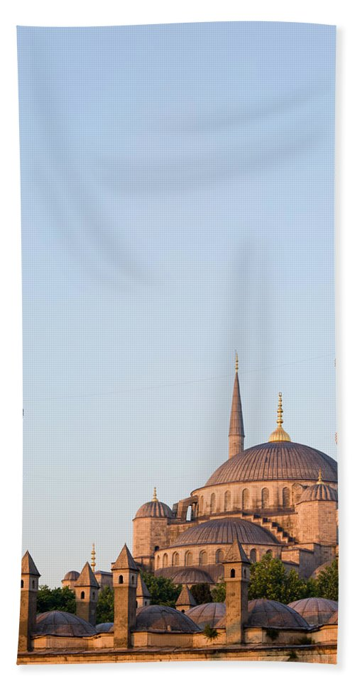 Mosque Beach Towel featuring the photograph Blue Mosque In Istanbul by Artur Bogacki