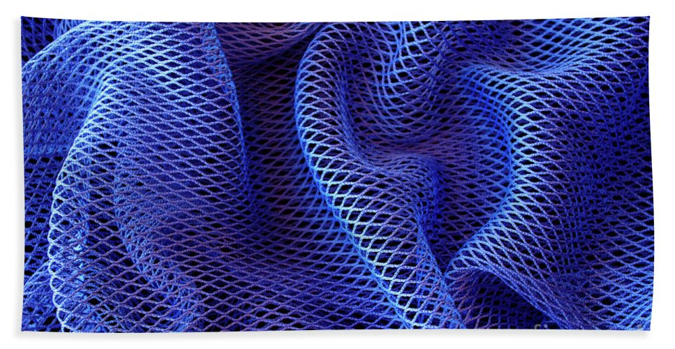 Abstract Beach Towel featuring the photograph Blue Net Background by Carlos Caetano