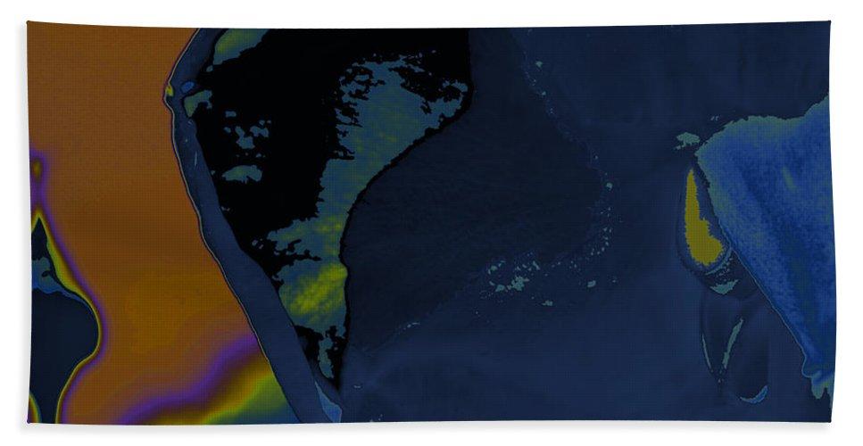 Augusta Stylianou Beach Towel featuring the digital art Blue Petal by Augusta Stylianou