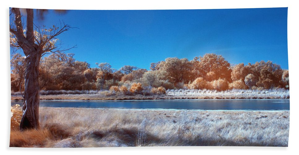 Absence Beach Towel featuring the photograph Blue Pond by Skip Nall