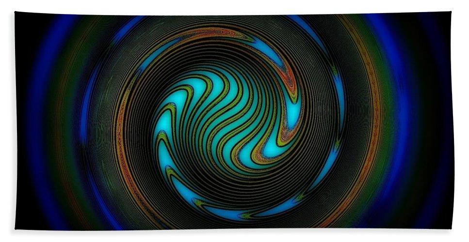 Dekor Beach Towel featuring the digital art Blue Spiral by Klara Acel