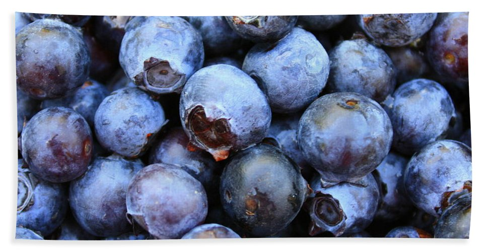 Food Beach Towel featuring the photograph Blueberries by Carol Groenen