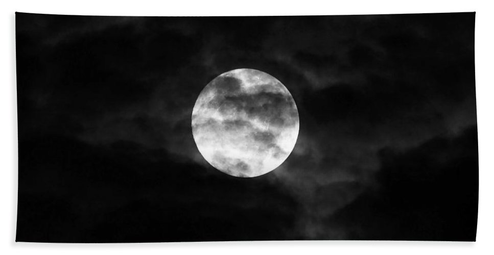 Moon Beach Towel featuring the photograph Blustery Blue Moon by Al Powell Photography USA