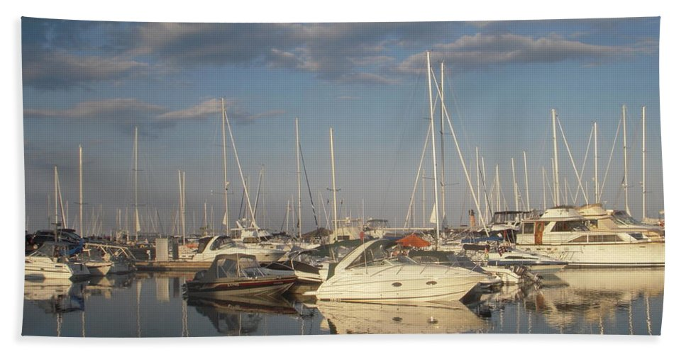 Harbor Beach Towel featuring the photograph Harbor Cams by Vesna Antic