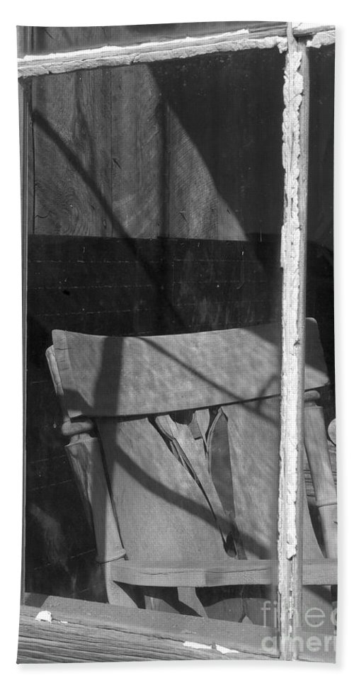 Sandra Bronstein Beach Towel featuring the photograph Bodi Ghost Town Window by Sandra Bronstein