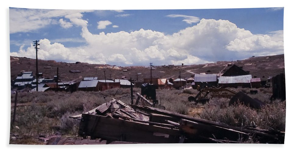Ghost Beach Towel featuring the photograph Bodie Ghost Town by Stephen Whalen