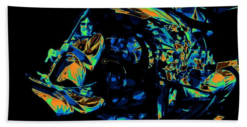 Rock Musicians Beach Towel featuring the photograph Tb Cosmic Swirl by Ben Upham