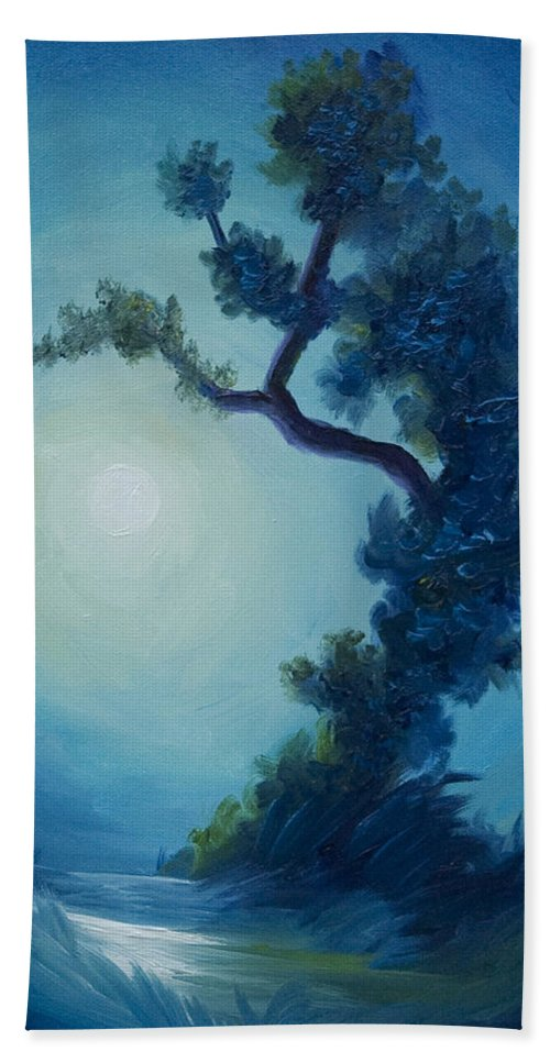 Nature Beach Towel featuring the painting Bonsai I by James Christopher Hill