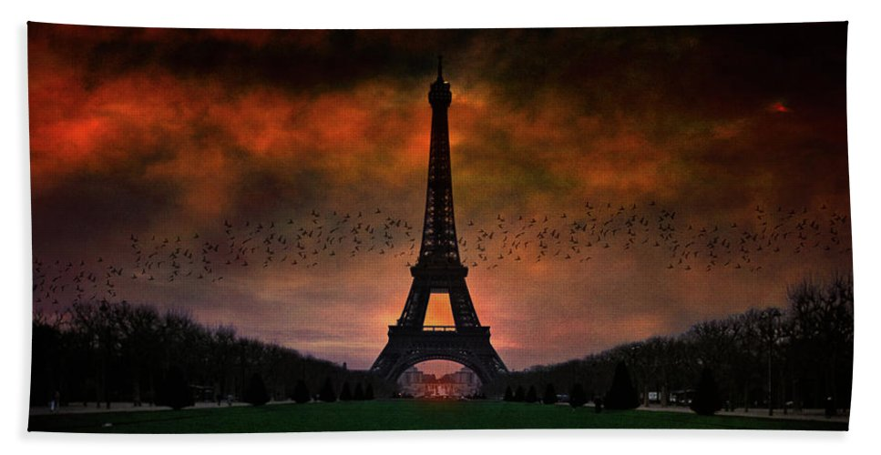 Paris Beach Towel featuring the photograph Bonsoir Paris by Chris Lord