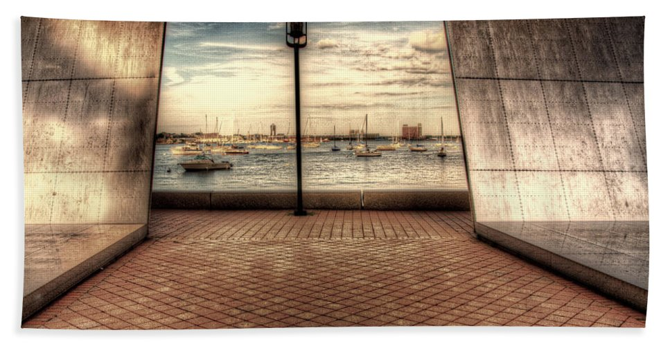 Boston Beach Towel featuring the photograph Boston - David Von Schlegell - Untiltled by Mark Valentine