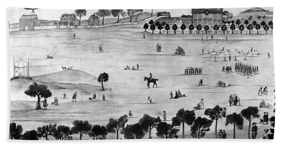 1768 Beach Towel featuring the photograph Boston Common, 1768 by Granger