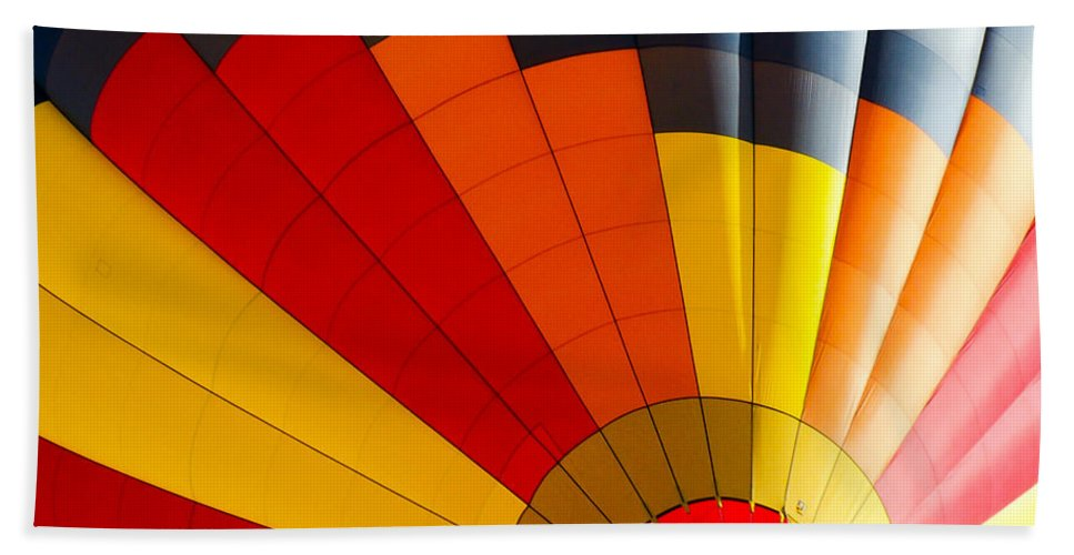Balloon Beach Towel featuring the photograph Bottom Up by Colleen Coccia