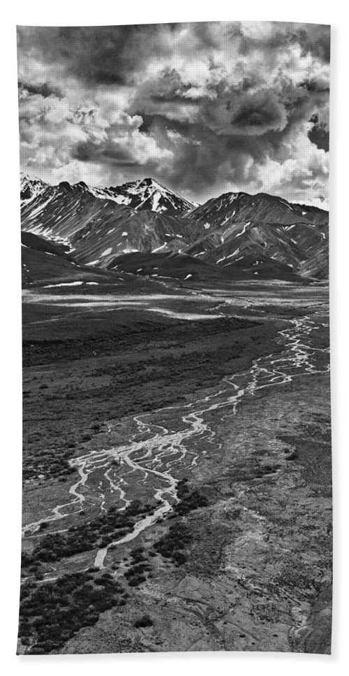 Braided River Beach Towel featuring the photograph Braided River by Wes and Dotty Weber