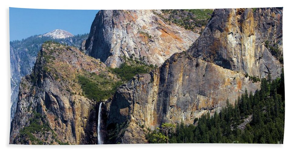 Yosemite National Park Beach Towel featuring the photograph Bride At Yosemite by Adam Jewell