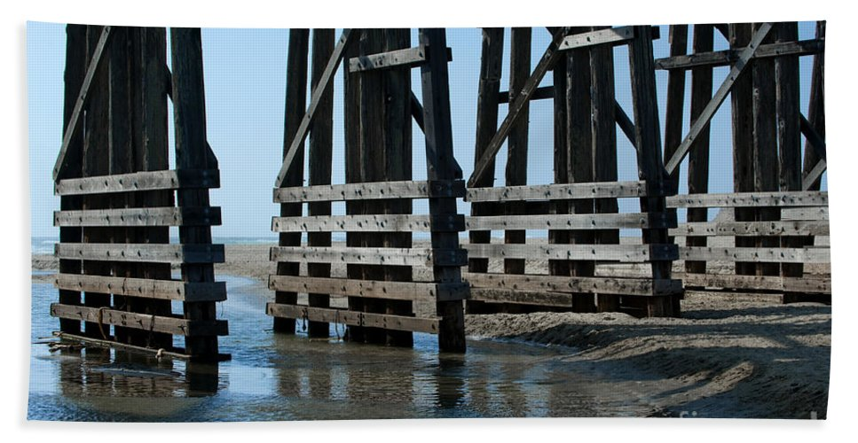 Sandra Bronstein Beach Towel featuring the photograph Bridge Detail by Sandra Bronstein