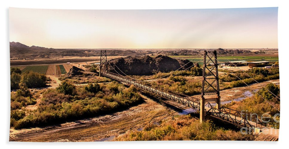 Architecture Beach Towel featuring the photograph Bridge To Nowhere by Robert Bales
