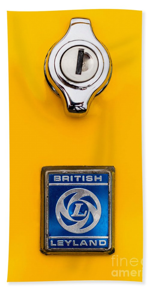 British Leyland Beach Towel featuring the photograph British Leyland by Jerry Fornarotto