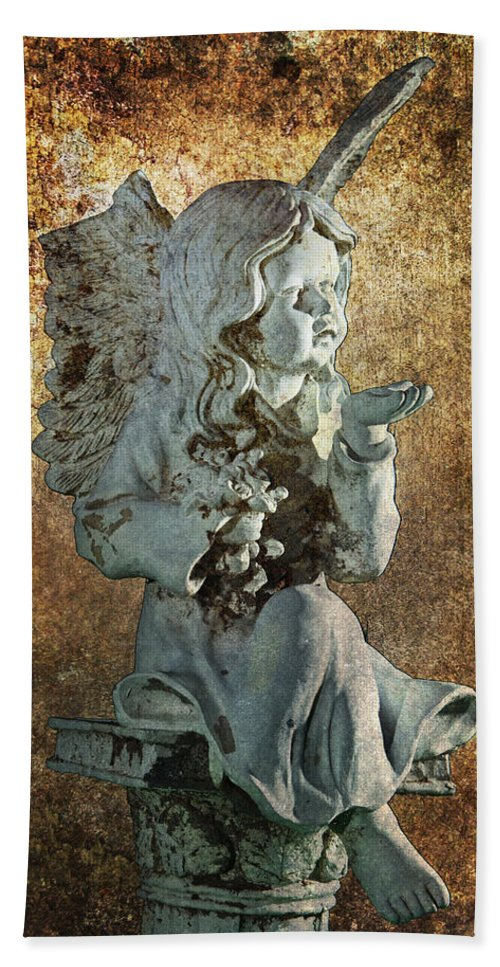 Art Beach Towel featuring the photograph Broken Angel by Randall Nyhof