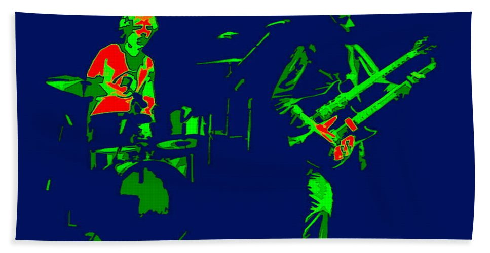 Genesis Beach Towel featuring the photograph Bruford And Rutherford Blue 2 by Ben Upham