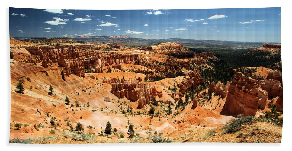 Hoodoos Beach Towel featuring the photograph Bryce Canyon Amphitheater by Adam Jewell