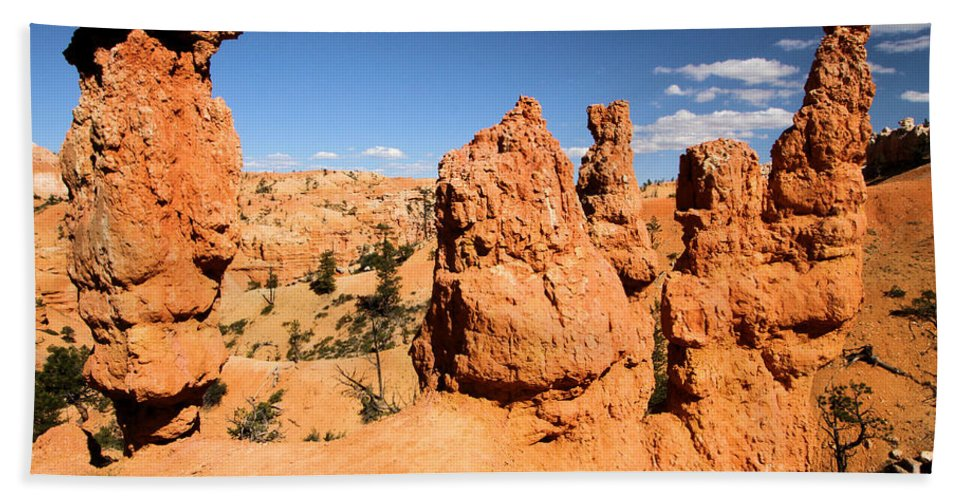 Bryce Canyon National Park Beach Towel featuring the photograph Bryce Canyon Hoodoos by Adam Jewell