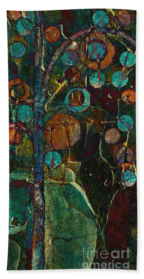 Tree Beach Towel featuring the painting Bubble Tree - Spc01ct04 - Right by Variance Collections