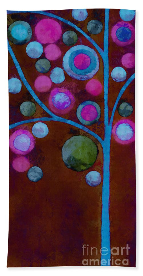 Tree Beach Towel featuring the painting Bubble Tree - W02d - Left by Variance Collections