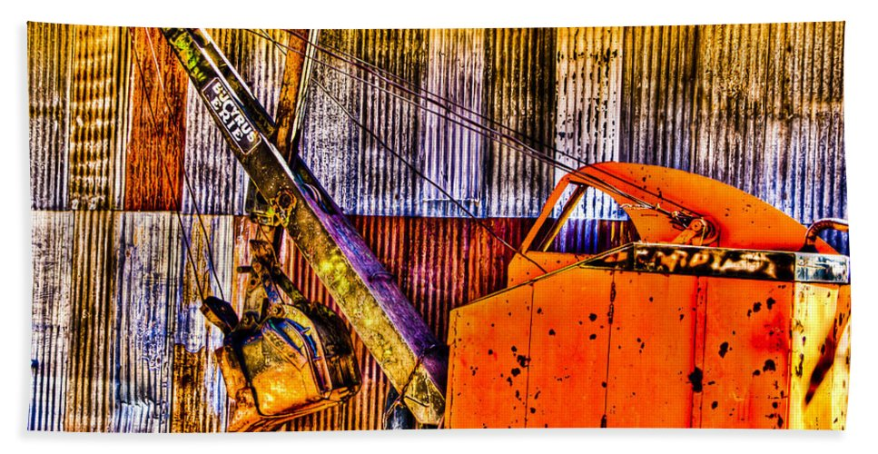 Old Truck Beach Towel featuring the photograph Bucyrus Erie Shovel by Jon Berghoff