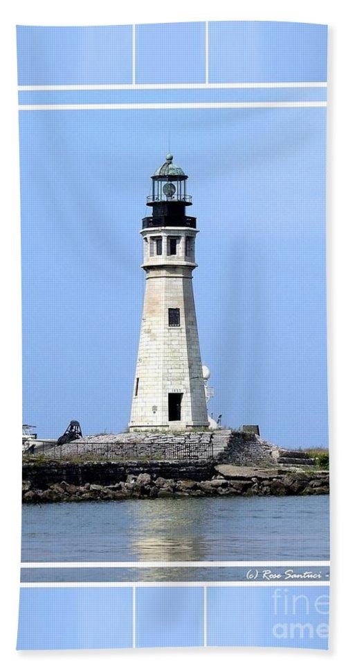 Buffalo Main Lighthouse Beach Towel featuring the photograph Buffalo Main Lighthouse by Rose Santuci-Sofranko
