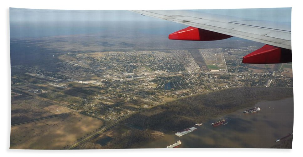 Airplane Beach Towel featuring the photograph By Water By Air by Anthony Walker Sr