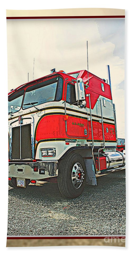 Trucks Beach Towel featuring the photograph Cab-over Kenworth by Randy Harris