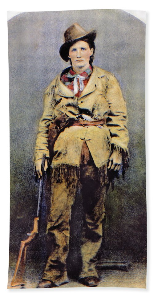 1895 Beach Towel featuring the photograph Calamity Jane (c1852-1903) by Granger