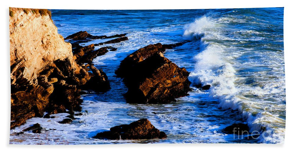 California Beach Towel featuring the photograph California Pacific Pismo Beach Coastline by Tap On Photo