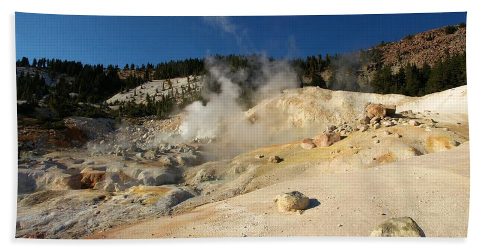 Lassen Volcanic National Park Beach Towel featuring the photograph California Thermals by Adam Jewell