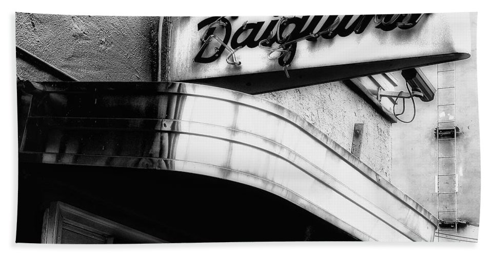 Signage Beach Towel featuring the photograph Can You Spell Daiquiris? by Kathleen K Parker