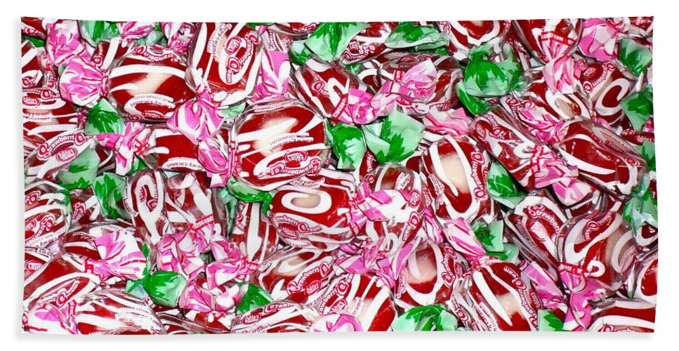 Candy Beach Towel featuring the photograph Candy Is Dandy by Beth Saffer
