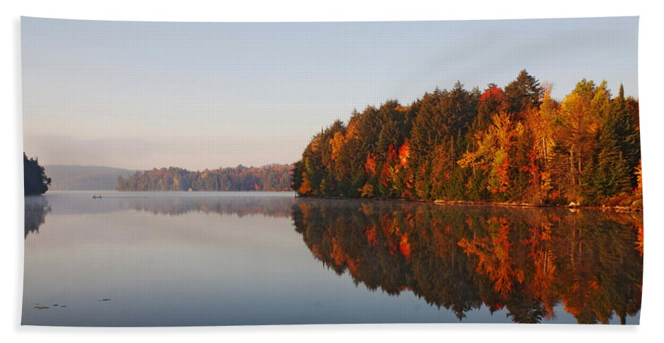 Canada Beach Towel featuring the digital art Canoe Lake Algonquin by Pat Speirs
