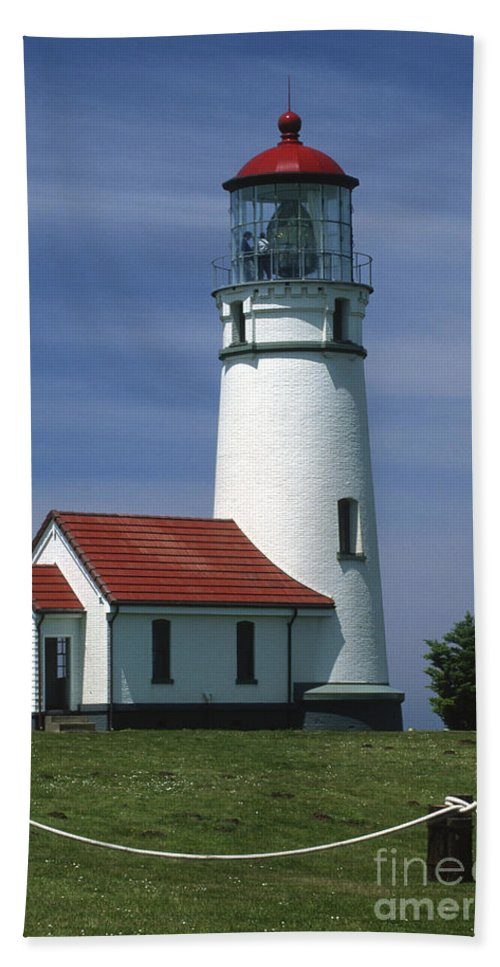 Bronstein Beach Towel featuring the photograph Cape Blanco Lighthouse by Sandra Bronstein