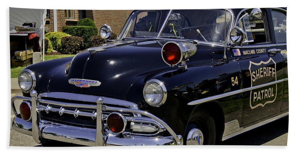 Sheriff Beach Towel featuring the photograph Car 54 Where Are You by LeeAnn McLaneGoetz McLaneGoetzStudioLLCcom