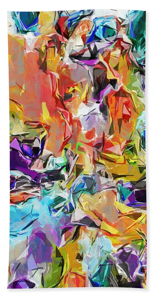 Fine Art Beach Towel featuring the digital art Carnival Abstract 082512 by David Lane