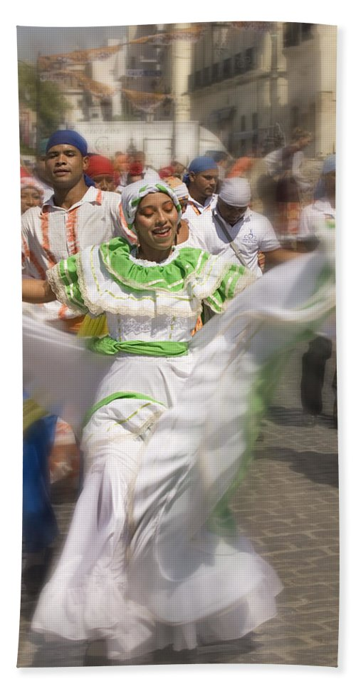 Carnival Beach Towel featuring the photograph Carnival Dancers by Mal Bray