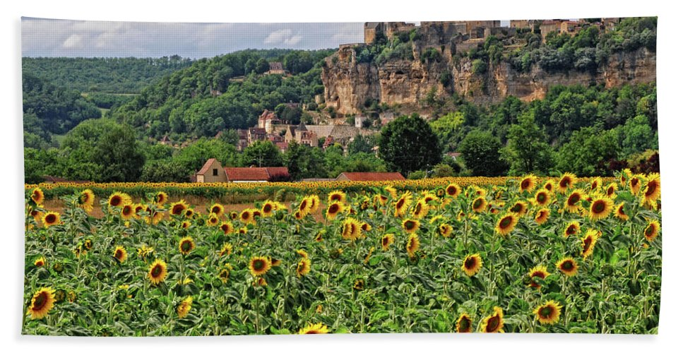 Castle Beach Towel featuring the photograph Castle In Dordogne Region France by Dave Mills