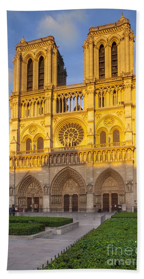 Architectural Beach Towel featuring the photograph Cathedral Notre Dame by Brian Jannsen